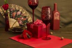 Decoración del día del ` s de la tarjeta del día de San Valentín Foto de archivo libre de regalías