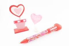 Decoración del día del ` s de la tarjeta del día de San Valentín Fotos de archivo