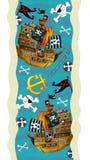 Decoración del diseño - con los barcos y los piratas - papel pintado - ejemplo para los niños libre illustration