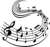 Decoración del diseño de la nota de la muestra de la música Imagen de archivo