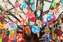 Decoración del diseño de los caramelos imágenes de archivo libres de regalías
