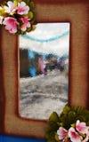 Decoración del espejo artístico Imagen de archivo libre de regalías