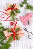 Decoración del fondo del Año Nuevo Imagen de archivo libre de regalías