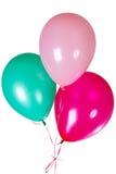 Decoración del globo del partido del feliz cumpleaños Imagenes de archivo