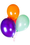 Decoración del globo del partido del feliz cumpleaños Fotografía de archivo libre de regalías