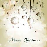 Decoración del gráfico de la mano de la Navidad Foto de archivo