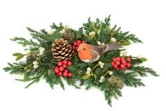 Decoración del invierno y de la Navidad fotos de archivo libres de regalías