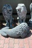 Decoración del jardín del león Imágenes de archivo libres de regalías