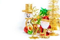 Decoración del juguete de la Navidad o concepto y decoraciones del Año Nuevo Fotos de archivo