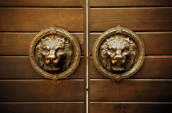 Decoración del león de la puerta Foto de archivo libre de regalías