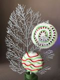 Decoración del lollypop de la Navidad Imágenes de archivo libres de regalías