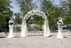 Decoración del lugar de la boda Foto de archivo libre de regalías