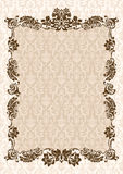 Decoración del marco del encanto de la vendimia Imagen de archivo libre de regalías