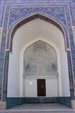 Decoración del mausoleo del emir de Uzbekistán Samarkand Gur-e fotos de archivo