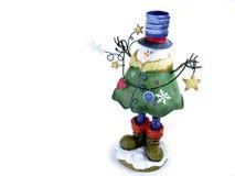 Decoración del muñeco de nieve Imagen de archivo