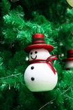 Decoración del muñeco de nieve Foto de archivo libre de regalías