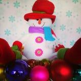Decoración del muñeco de nieve de la Navidad Foto de archivo