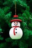 Decoración del muñeco de nieve de la sonrisa Fotografía de archivo libre de regalías