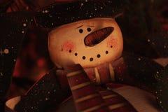 Decoración del muñeco de nieve del metal Imagen de archivo libre de regalías