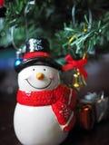 Decoración del muñeco de nieve y de la Navidad Foto de archivo