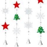 Decoración del ornamental de la Navidad Imágenes de archivo libres de regalías