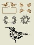 Decoración del ornamento del elemento del pájaro Foto de archivo libre de regalías
