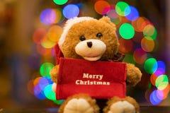 Decoración del oso de la Navidad Imágenes de archivo libres de regalías