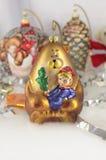 Decoración del oso del Año Nuevo de la Navidad Imágenes de archivo libres de regalías