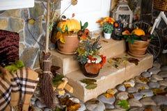 Decoración del otoño de un interior Fotos de archivo