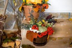 Decoración del otoño de un interior Fotografía de archivo libre de regalías