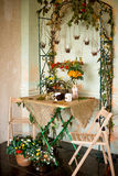 Decoración del otoño de un interior Imagen de archivo libre de regalías