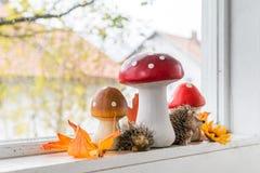 Decoración del otoño en casa Imagen de archivo libre de regalías