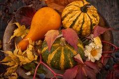 Decoración del otoño para la tabla Foto de archivo