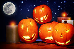 Decoración del partido de Halloween Imágenes de archivo libres de regalías