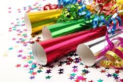 Decoración del partido del Año Nuevo Fotos de archivo