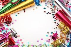 Decoración del partido del Año Nuevo Foto de archivo libre de regalías
