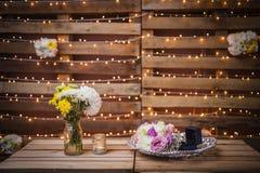 Decoración del regalo de boda Foto de archivo