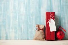 Decoración del regalo de la Navidad foto de archivo