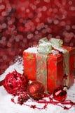 Decoración del rojo de la Navidad Fotos de archivo