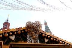 Decoración del ` s del Año Nuevo en Plaza Roja en Moscú Fotos de archivo