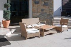 Decoración del salón de la silla de los muebles Foto de archivo libre de regalías