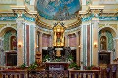 Decoración del santuario de Tindari en Sicilia y Madon negro Imagen de archivo libre de regalías