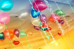 Decoración del sitio de Baloons Fotos de archivo