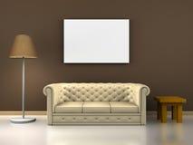 Decoración del sofá Stock de ilustración
