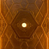 Decoración del techo de Art Nouveau Imagen de archivo libre de regalías