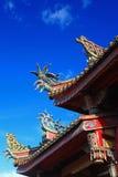 Decoración del tejado del templo en Taiwán Foto de archivo libre de regalías
