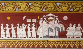 Decoración del templo sagrado de la reliquia del diente fotografía de archivo libre de regalías
