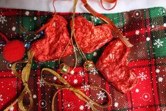 Decoración del tiempo de la Navidad Imagen de archivo libre de regalías