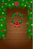 Decoración del vector de la Navidad stock de ilustración