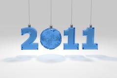 decoración del vidrio de 2011 números Imagen de archivo libre de regalías